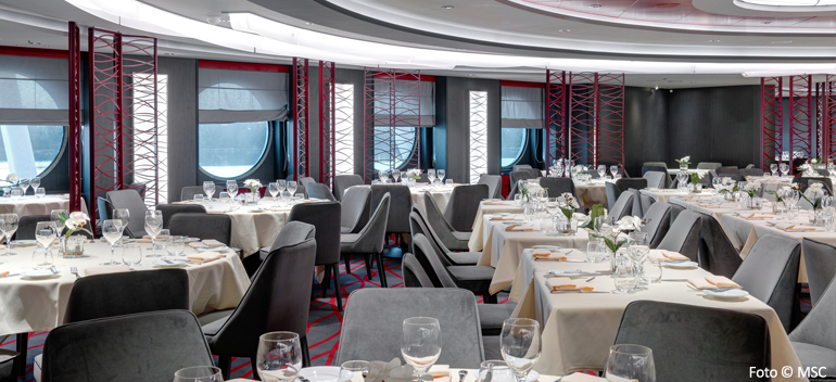 Restaurant om bord MSC Seaside