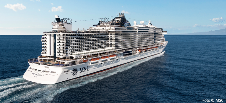 MSC Seaside - et nyere skip